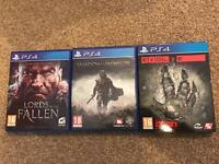 PS4 games. £10 each or £25 for the three