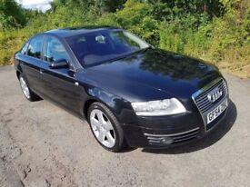L@@K Audi A6 2.0 TDi 2005 *54* C6 **12 MONTHS MOT**Sat Nav**Black Leather**S-Line Alloys**45MPG!