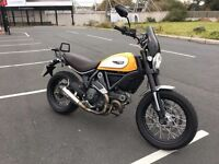Mint Ducati Scrambler Classic 800cc L-twin,only 2400 miles,trade in considered,credit cards accepted