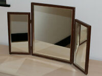 Folding 3 Panel Dressing Table Mirror made by D Linfoot, 1980's