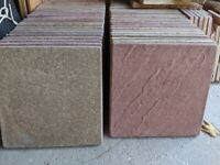 Textured red and cream paving slabs 450x450x32 mm, coverage 10 m2