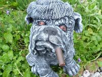 """garden ornament """"young winston"""" the bulldog £10"""