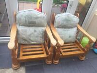 FREE FREE FREE X2 chairs just need cushions used condition need gone asap please! Cannot deliver