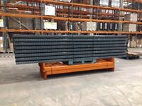 8 bay run of dexion pallet racking ( storage , shelving )