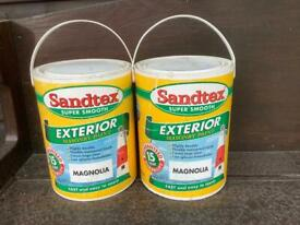 Santex super smooth exterior masonry paint - magnolia