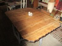 Solid Oak Drop Leaf Dining Table
