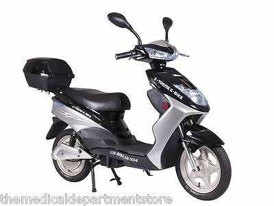 X-Treme NEW XB-504 Electric Bicycle Scooter Moped Rear Hub Power Assist BLACK