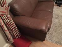 Furniture Village brown 2 seater sofa free to collect