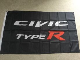 Honda Civic type r workshop flag banner