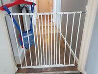 Safety gates metal and lock effect