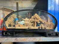 Vintage Chinese 3D Cork Picture Oriental £25