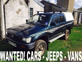 Toyota patrol Hilux jeep wanted!!!