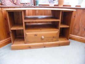 Solid Pine TV Corner Unit with drawer.