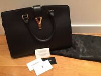 Genuine YSL black leather handbag, part of the classic collection, hardly worn
