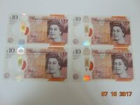 NEW 10 POUNDS BANKNOTES