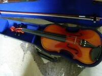Good entry-level fullsize violin with bow and case-lovely condition,plays very nicely