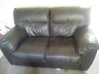2 seater italian leather sofa (brown) very good condition £50 ono