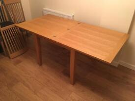 Morris furniture extendable dining table