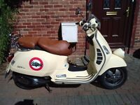 2009 Vespa GTV 125 automatic scooter, 1 year MOT, very good runner, good condition, not gt gts,,,,