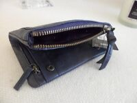 Real Leather Dark Blue Wallet/Purse ~ New with tag