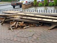 Free Free Wooden decking slabs