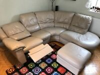 DSF Corner sofa and stool + electric recline seat!
