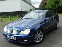 Mercedes Benz C Class 1.8 C180 Kompressor SE 2dr Coupe, 2 Tone Leather, 2 Years Warranty