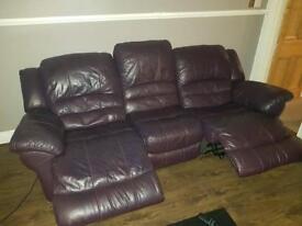 Electric reclining sofa and matching chair