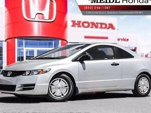 2011 Honda Civic DX-G Coupe $129 Bi-Weekly PST Paid