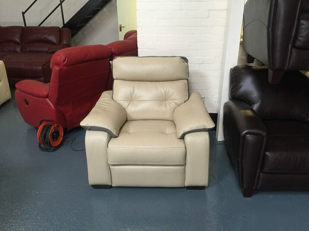 Magnificent Ex Display Htl Elle Cream Leather Electric Recliner Armchair In Deeside Flintshire Gumtree Pabps2019 Chair Design Images Pabps2019Com