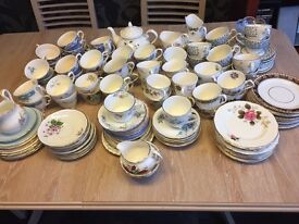 Cups, saucers and plates