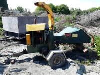 Diesel woodchipper