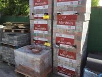 New Marshall brindle driveway block paving bricks 200 x100 x60mm 7 pallets available.