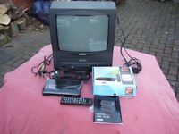 portable colour tv/video player/freeview box.