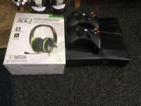 Xbox 360 console 250 gb 2 controllers ,Turtle Headset £70.00