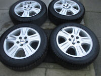 """ford focus mondeo transit connect 16"""" alloy wheels 5stud all new tyres"""
