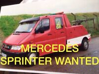 Mercedes Benz sprinter van wanted