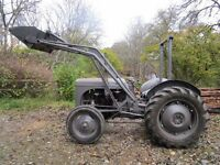 Tractor Grey Ferguson, TE Series, P3 diesel, c/w Mill loader
