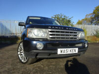 56 LAND ROVER RANGE ROVER SPORT 2.7 DIESEL,MOT AUG 018,2 OWNERS,11 SERVICE STAMPS,STUNNING EXAMPLE