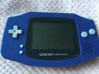 Game Boy Advance blue - sonic 3 and bag