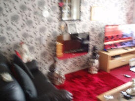 2 bedroomed house to swap .