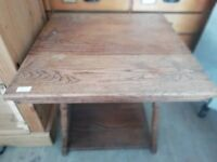 Wooden square coffee table 55 cm x 55 cm good condition