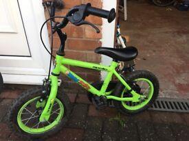 Halfords kid bike, apollo monkey, 12''