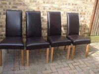 black dinning chairs