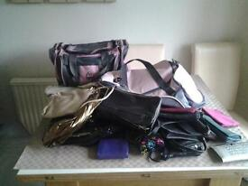 selection of bags purses