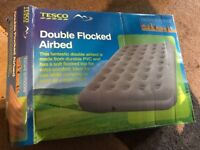 Double inflatable air bed. Used once