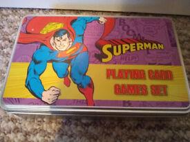 Superman Playing Card Games Set