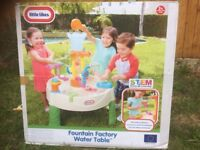 Brand New Little Tikes Fountain Factory Water Table Garden Toy