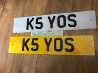 Chaos KEYOS K5 YOS private cherished personalised personal registration plate number