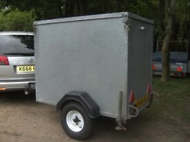 VERY RARE FULLY GALVANISED STEEL 5X3X4 BOX TRAILER WITH RAMPTAIL....